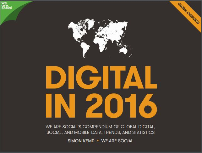 Global Digital Statistics in 2016
