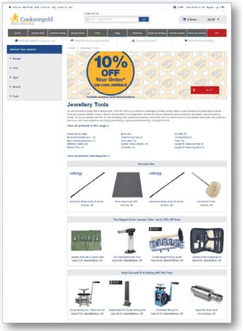 A Guide to Intelligent Personalization: An Example of Category Pages and Product Listing Pages Used by Cooksongold