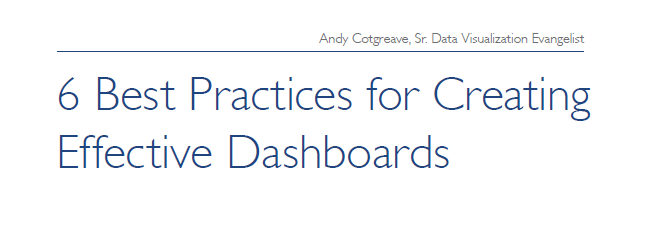 6 Best Practices for Creating Effective Dashboards | Tableau