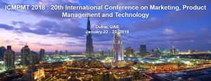 ICMPMT 2018 : 20th International Conference on Marketing, Product Management and Technology