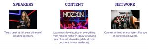 MOZCon 2018 Benefits