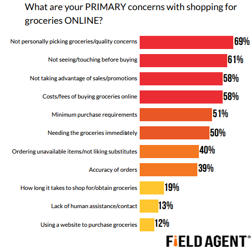 The Primary Concerns With Shopping Online For Groceries, 2018
