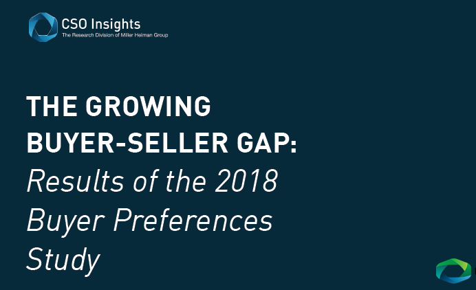 How B2B Buyers View B2B Salespeople | 2018 Buyer Preferences Study