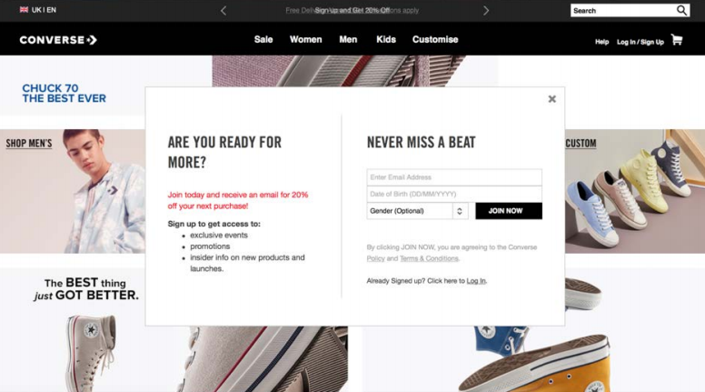 Examples for How to Collect Demographic Data for Email Marketing Automation for E-commerce
