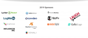 Content Marketing Conference 2019 Sponsors