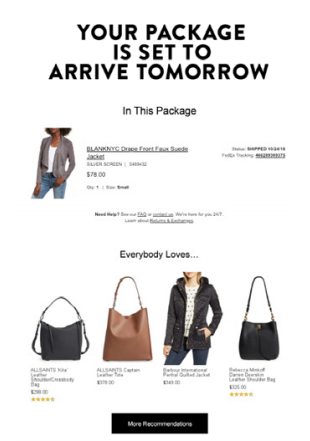 Nordstrom Email Marketing Example - Increasing Revenue from Email Marketing: The Definitive Strategy Guide for Fashion, Apparel, and Specialty Retail Brands