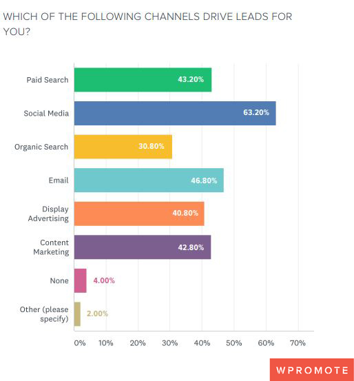 WHICH OF THE FOLLOWING CHANNELS DRIVE LEADS FOR B2B Businesses 2019