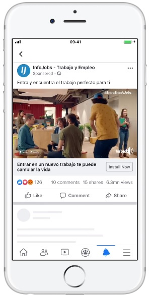 Gain Awareness and Installs with Facebook Mobile App Ads | InfoJobs Case Study
